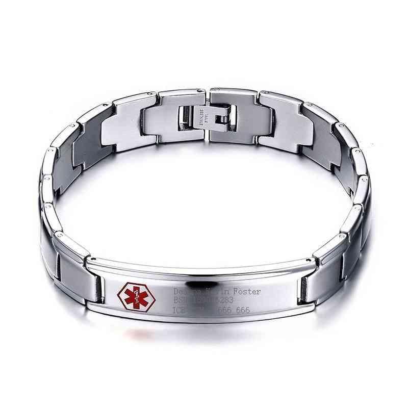 Medical Alert Id Bracelet Bangle