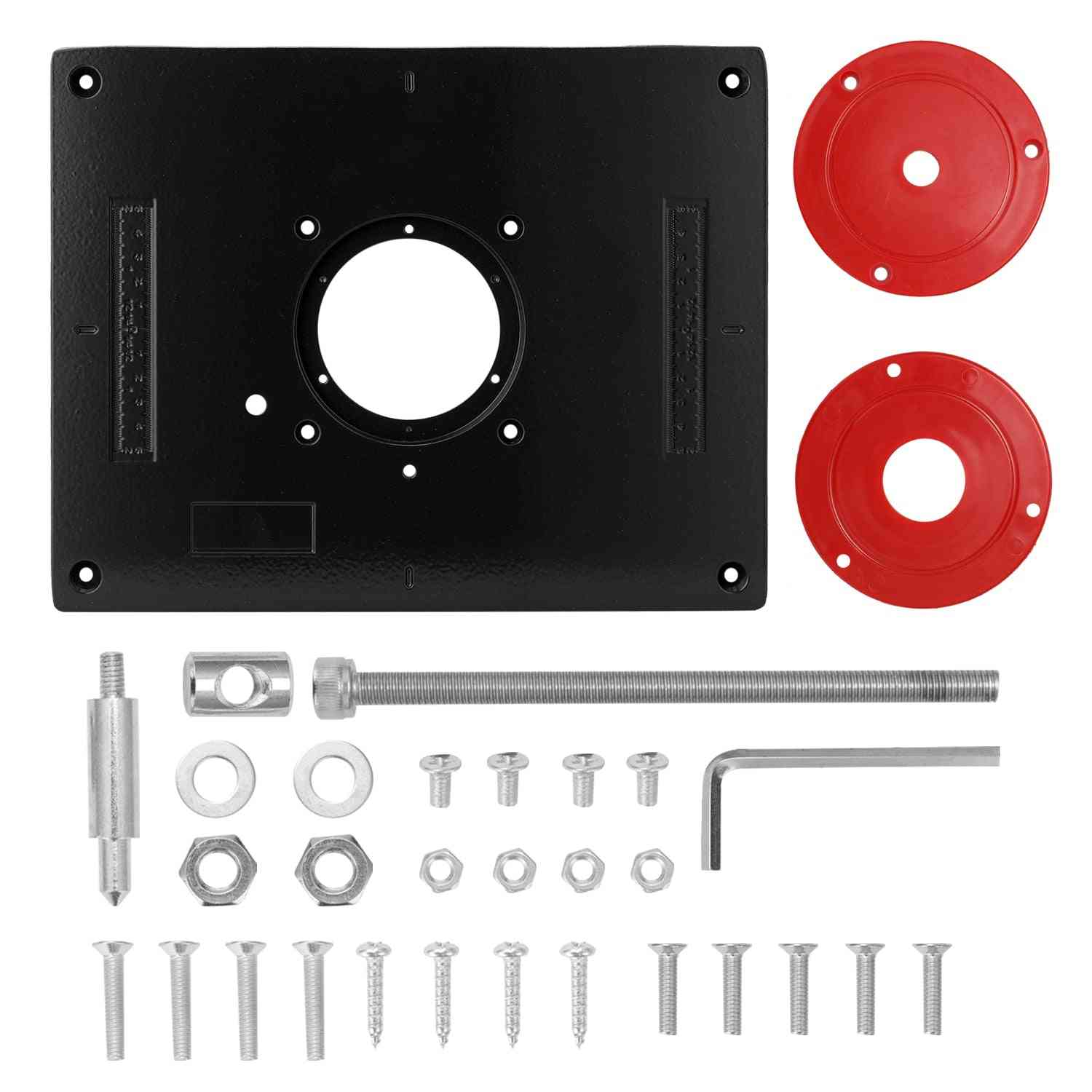 Carpentry Router Table Insert Plate Wood Work Benches Trimmer
