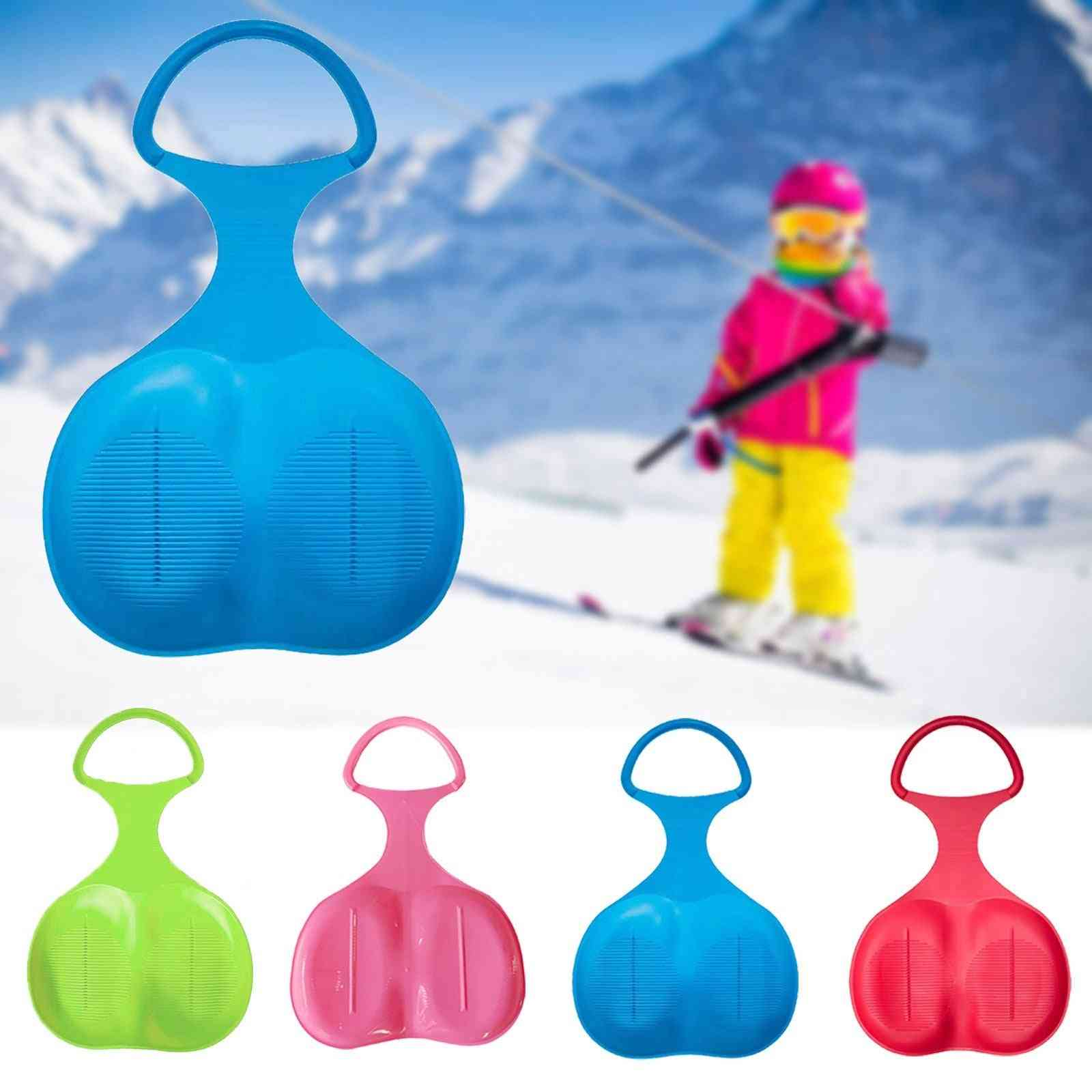 Winter Outdoor Sport Thicken Kids, Adult, Snow Sled Sledge, Ski Board Sleigh, Outdoor Grass Plastic Boards Sand Slider, Snow Luge