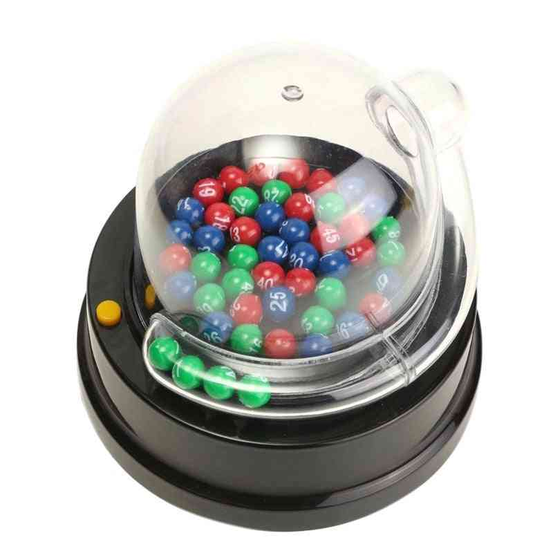 Electric Lucky Lottery Toy, Number Picking Machine, Bingo Games Shake Lucky Ball Entertainment Board Game