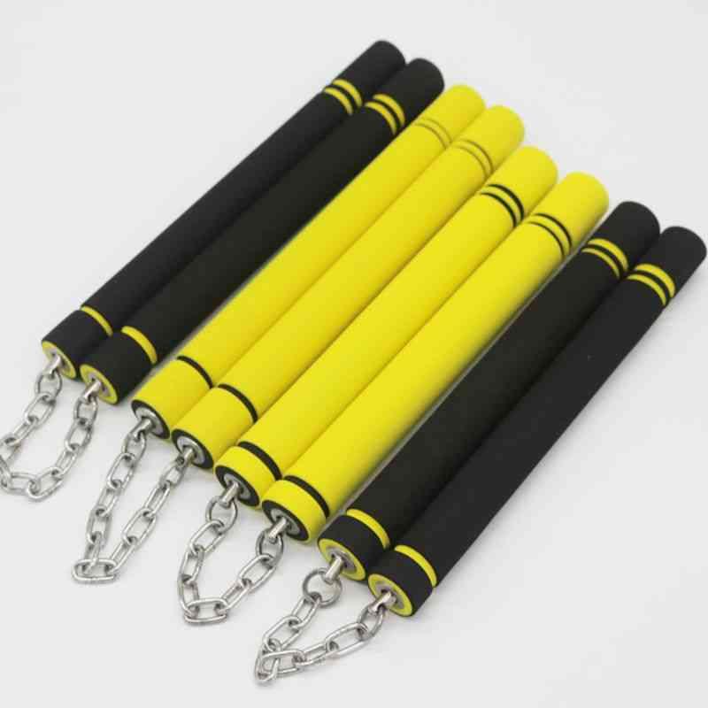 Adult Sponge Nunchaku Beginners Practice Martial Foam Stick Training Equipment.