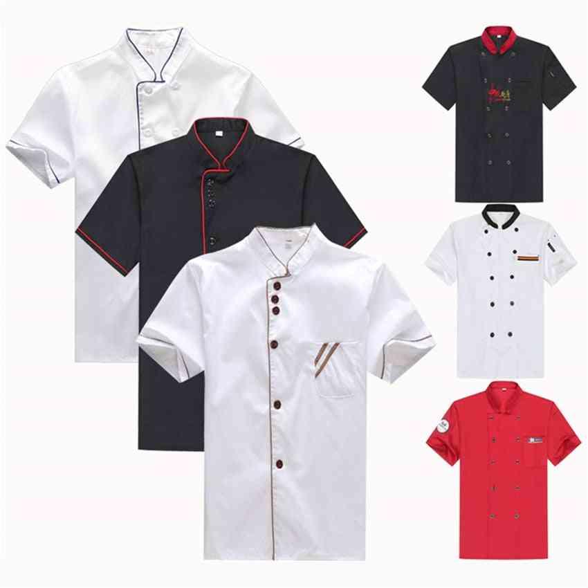 Unisex Chef Uniform Restaurant Kitchen Bakery Cook Work Wear Shirt Apron