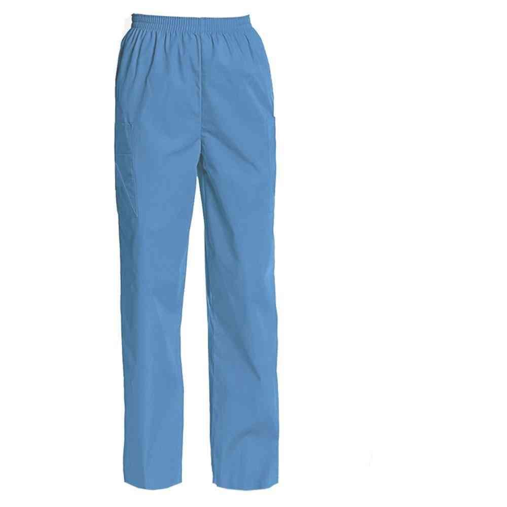 Women's Nursing Uniform Pants Full Elastic Waist Cargo Pants