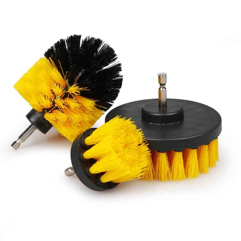 Electric Scrubber, Drill Brush Kit- Plastic Round, Cleaning Brush