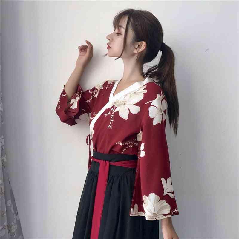 Women Foral Kimono Dress