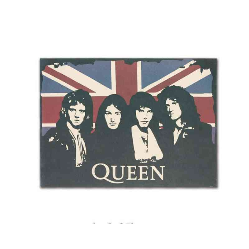 The Band Of Queen Decor Vintage Kraft Paper