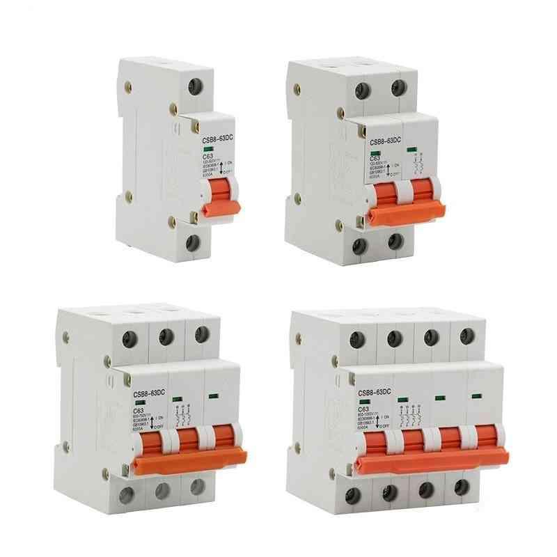 1p 2p 3p 4p Dc 250v-1000v 10 Solar Mini Circuit Breaker Mcb Fuse Pv System 3/6/10/16/20/25/32/40/50/63/80/100/125a