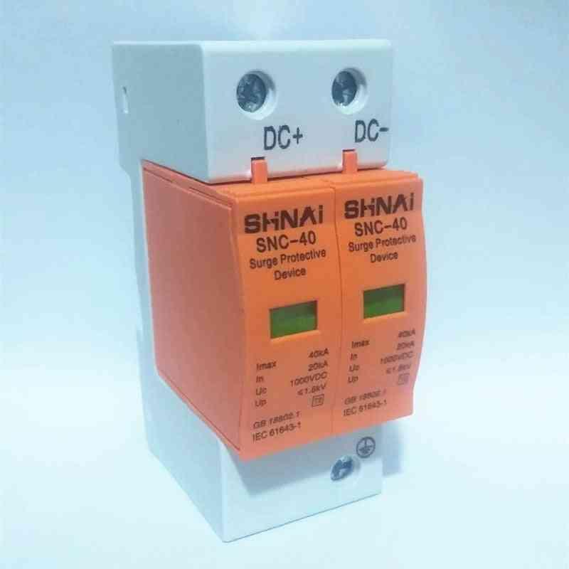Surge Protective Device Spd Dc 500v 660v 800v 1000v 2p Dc1000v 20ka~40ka Low-voltage Arrester House Din