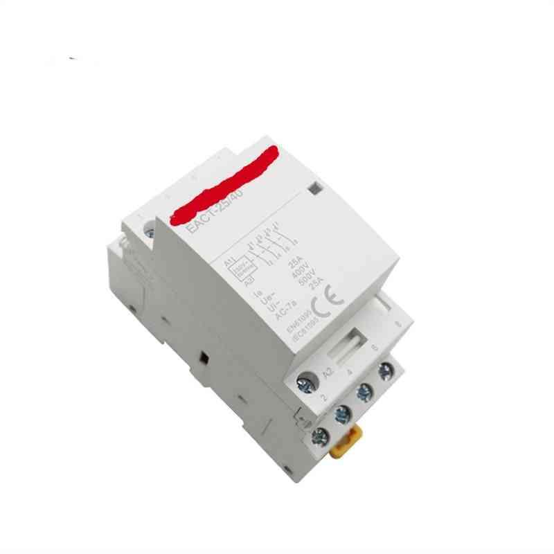 4p 16-25a Ac 220v 230v 50/60hz Din Rail Household Ac Modular Contactor Switch Controller 4no 4nc 2no 2nc