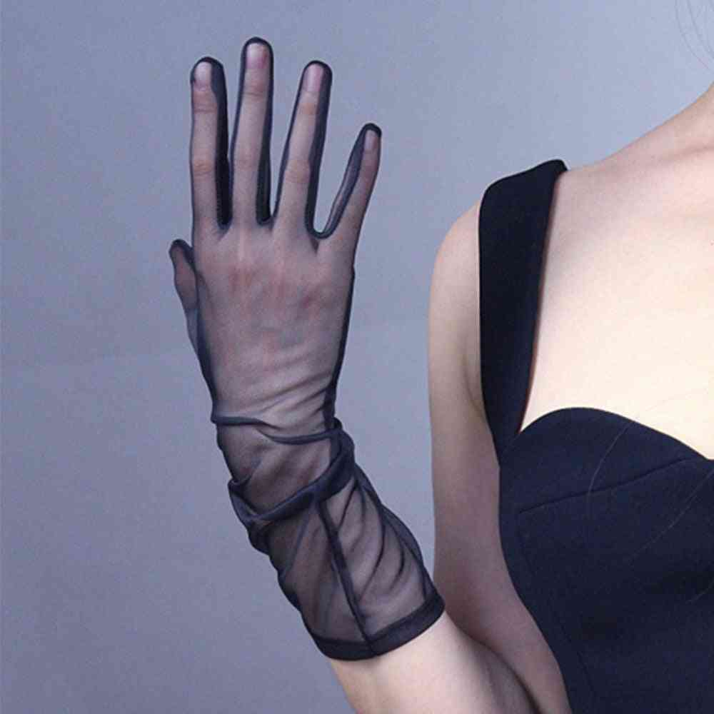 Sexy Lace Elastic Driving Sunscreen Gloves