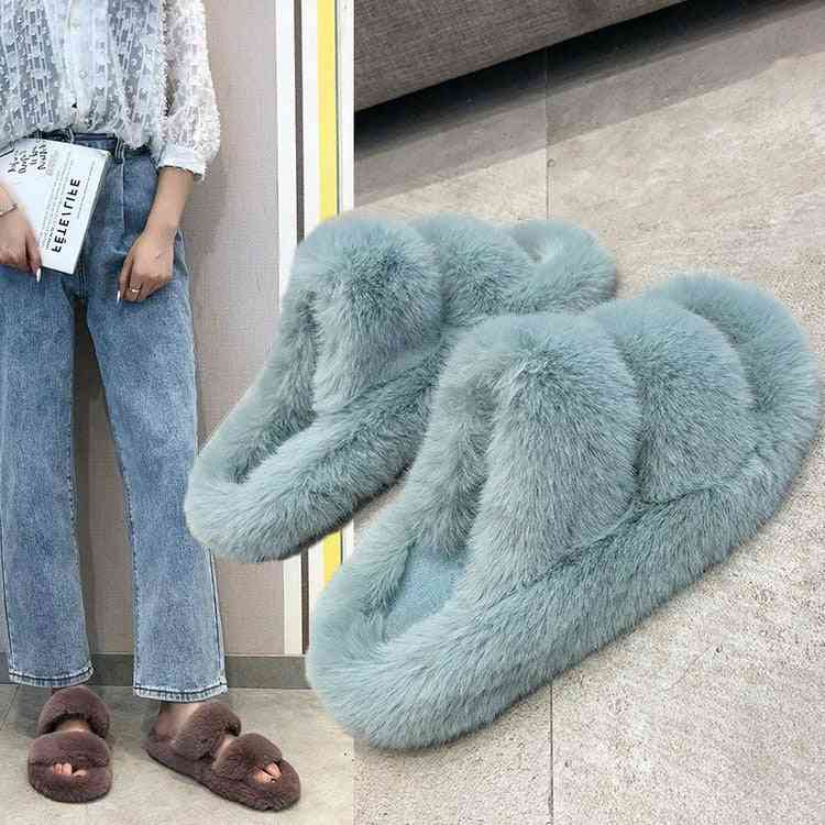 Women Faux Fur Slippers