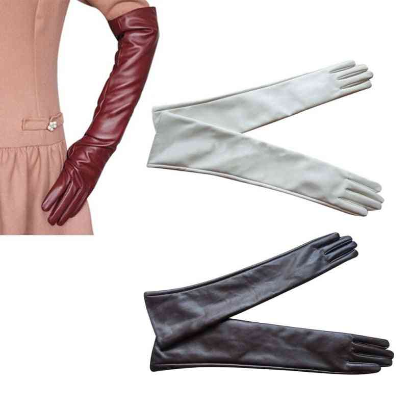 Women Evening Party Gloves, Leather Long Glove