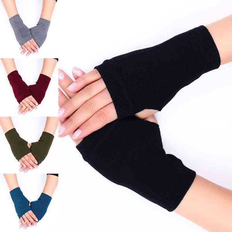 Fashion Women Hand Gloves, Winter Solid Color Gloves