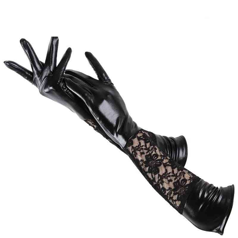 Fashion Women's Long Gloves, Leather Gloves