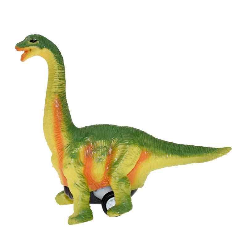 Pull Back Car Dino Toy With Big Tire Wheel, Imitation Dinosaur Model, Boy, Girl, Creative
