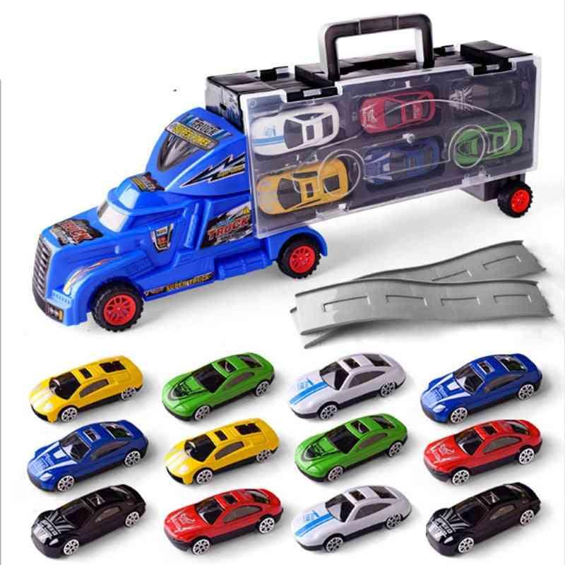Carrier Truck Set, Premium Transporter Car Model, Inertia Cars Vehicle, Set For, Toddler