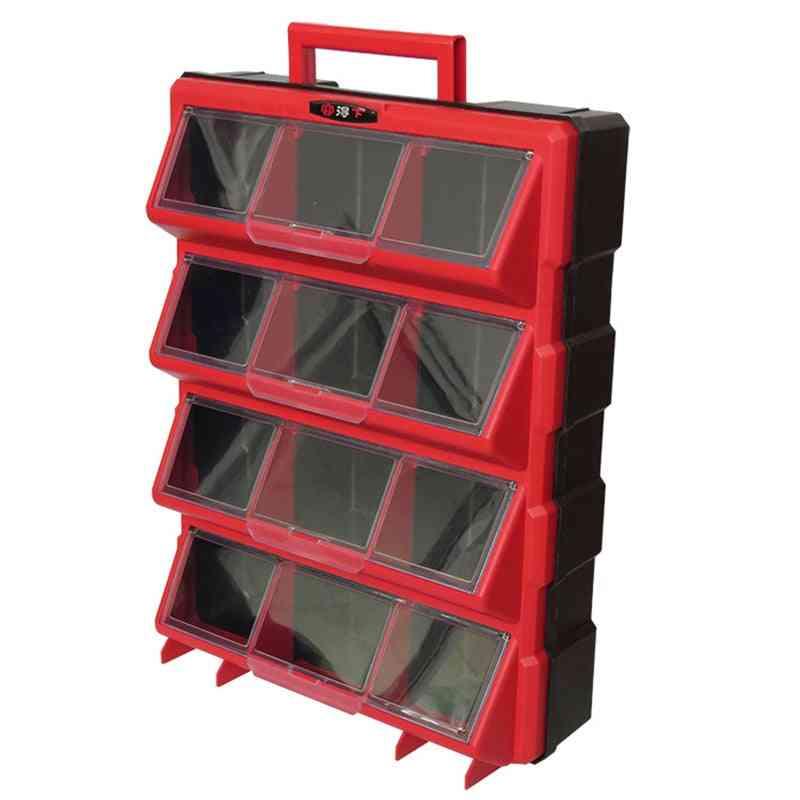 Plastic Parts Storage Hardware Grid Craft Cabinet Tool Case Drawer