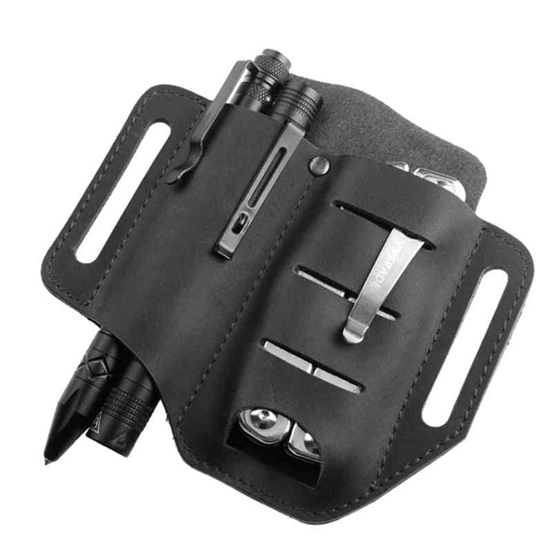 Leather Multitool Holder Essential Organizer Belt Pouch Pen