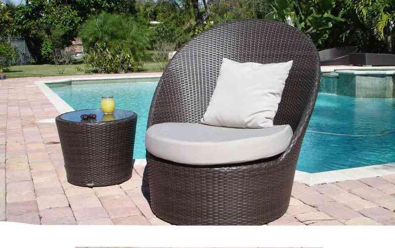 High-end Sea Side Poly Rattan Terrace Leisure Garden Outdoor Furniture