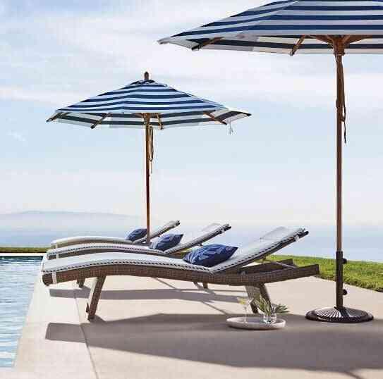 Sigma Synthetic Rattan Furniture Swimming Pool Lounge Chair