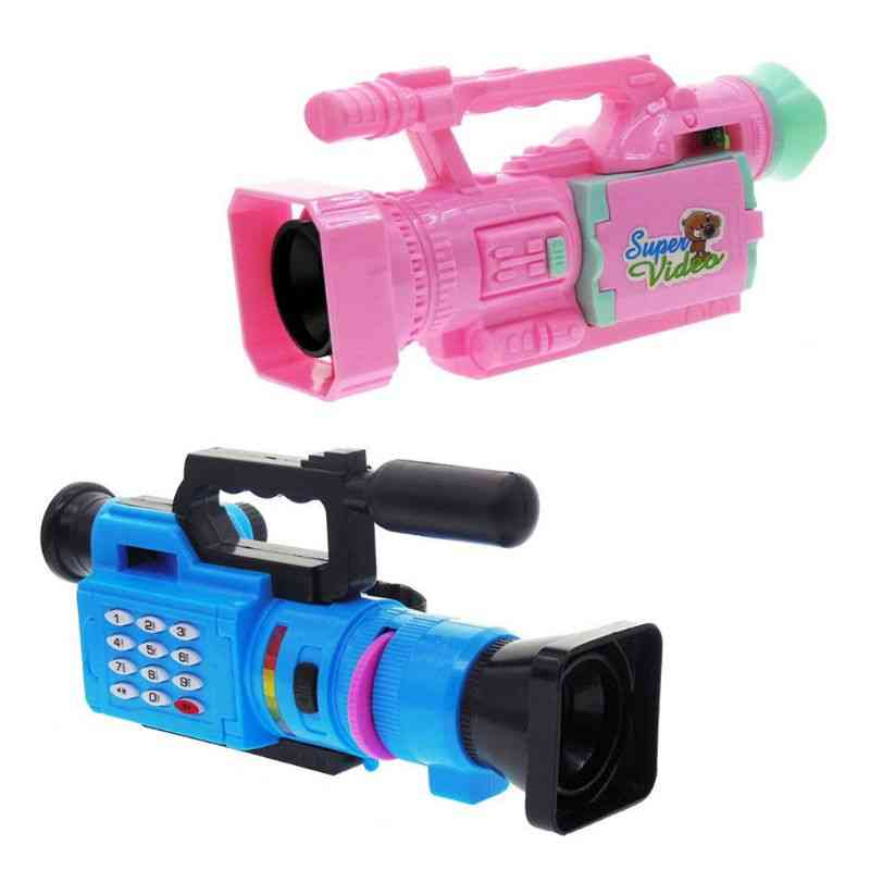 Kids Electrical Toy, Creative Music Video Projection Simulation Camera, Baby Early Educational