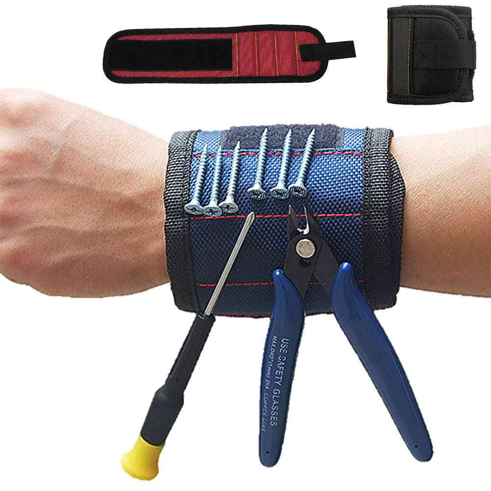 1pc Strong Magnetic Wristband Adjustable Wrist Support Bands