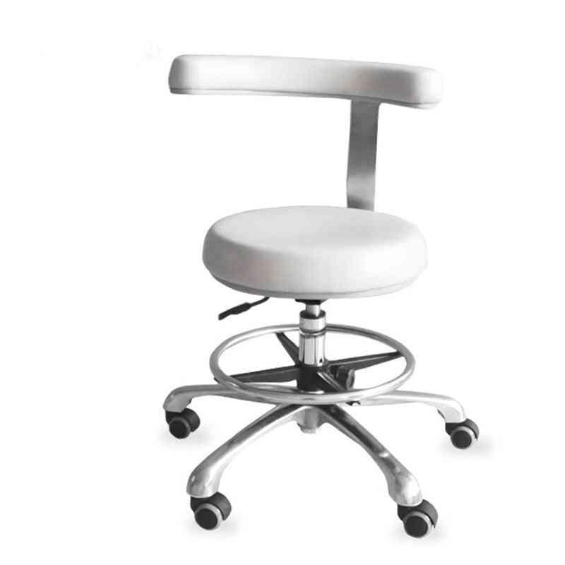 Dentist Rotation Armrest Pu Leather Assistant Stool Chair