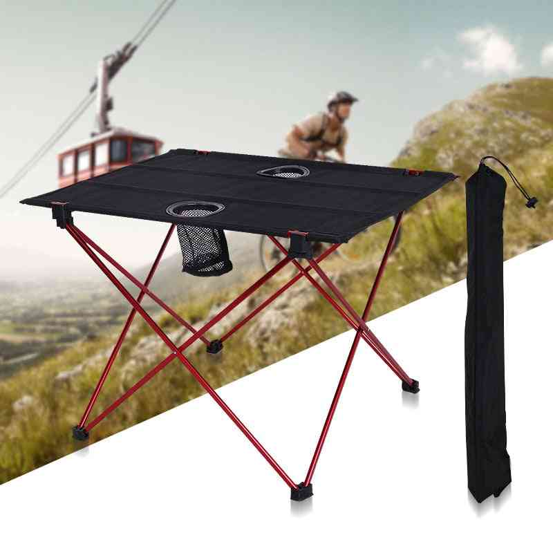 Outdoor Folding Camping Table Oxford Cloth Aluminum Alloy Table