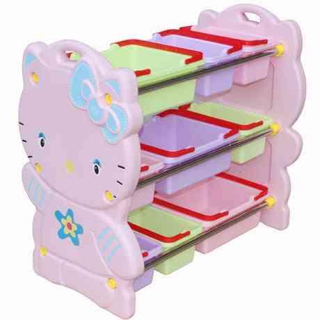 Plastic Bookshelf Baby Toy Rack