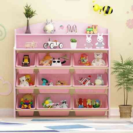 Furniture Wooden Bookshelf Bookcase Toy Storage Cabinet