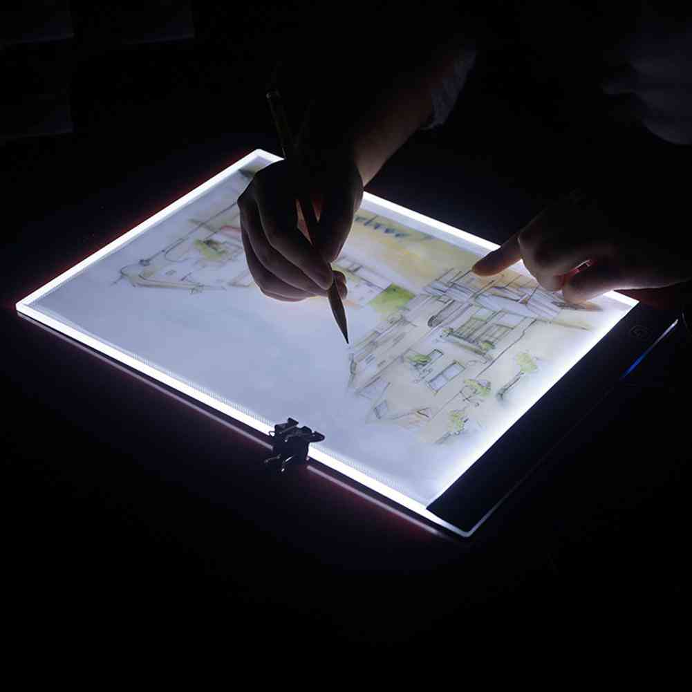 A4 Dimmable Usb Led Drawing Board Digital Tablet