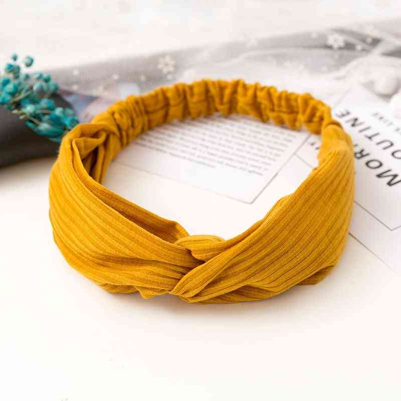 Cross Top Knot Headband