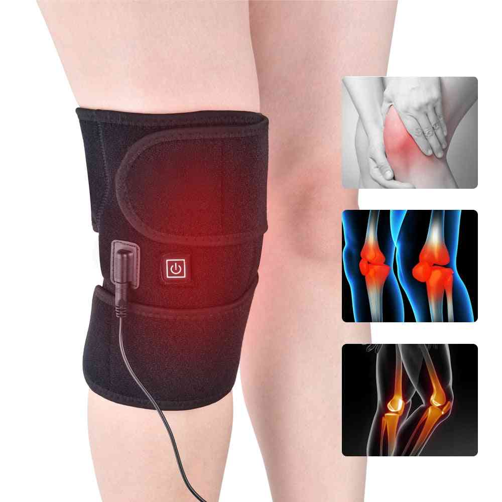 Heating Knee Pads, Wrap Hot Compress Knee Massager For Cramps Arthritis Pain Relief.