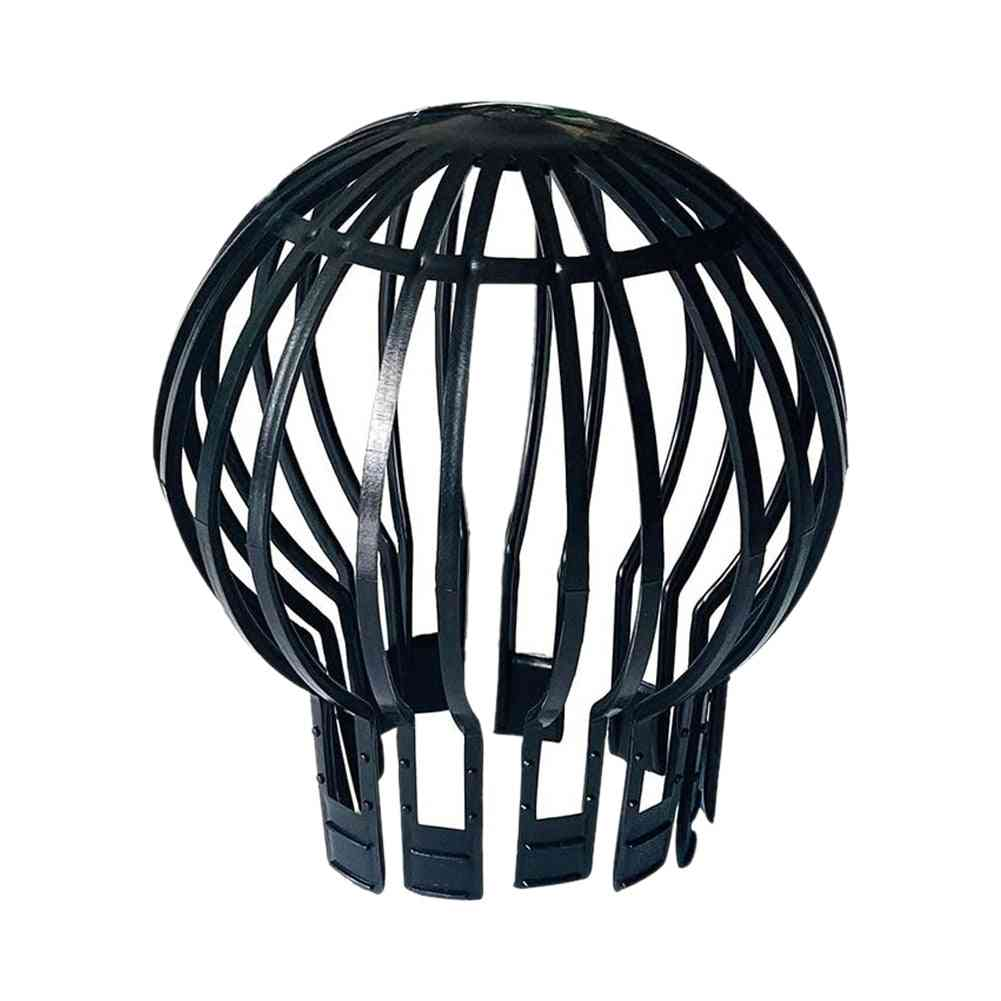 Outdoor Leaves Protection Black Roof Drain Anti-blocking Home Filter Easy Install Garden Downpipe Debris Gutter Guard Strainer