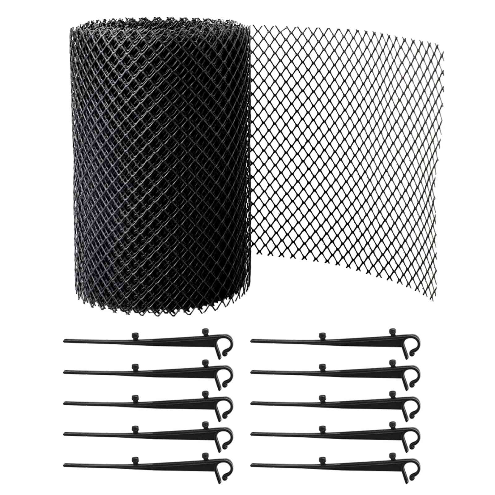 Anti Clogging, Stops Leaves, Reduce Overflow, Outdoor Drain Gutter Guard, Balcony Mesh Cover, Flexible Cleaning Tool