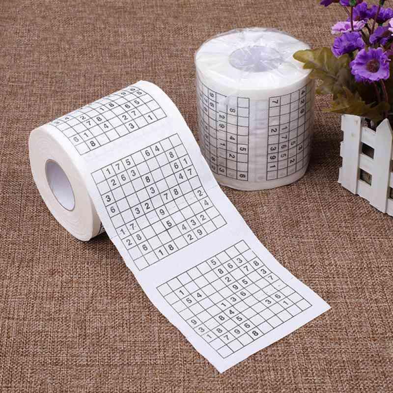 Sudoku Game Toilet Paper, 2-ply Creative Game, Towel Tenacity Durable.