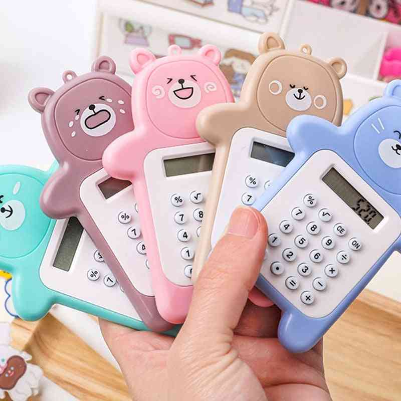 Display Cartoon Mini Ultra-thin Button Cute Calculator