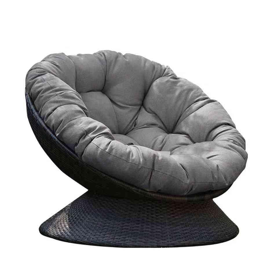 Outdoor Circular Swivel Chair Leisure Single Sofa