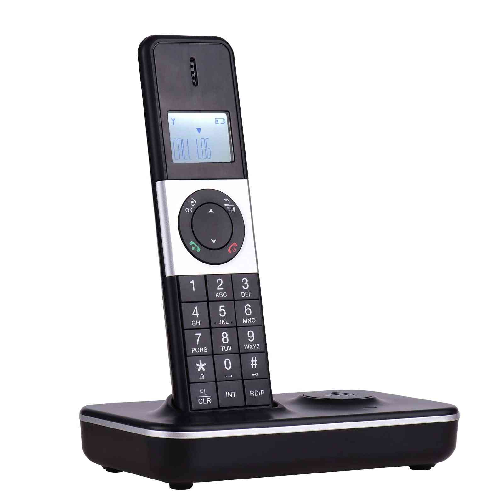 Digital Cordless Telephone With Lcd Display Caller Id Hands-free Call