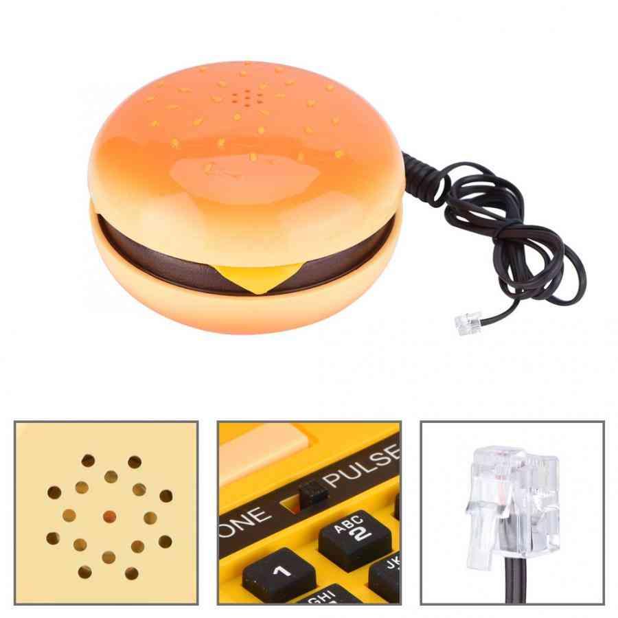 Novelty Emulational Hamburger Telephone Wire Landline