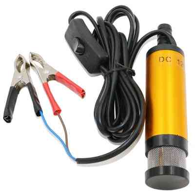 Portable Mini 12v 24v Dc Electric Submersible Pump For Pumping Diesel Oil Water Aluminum Alloy Shell 12l/min Fuel Transfer