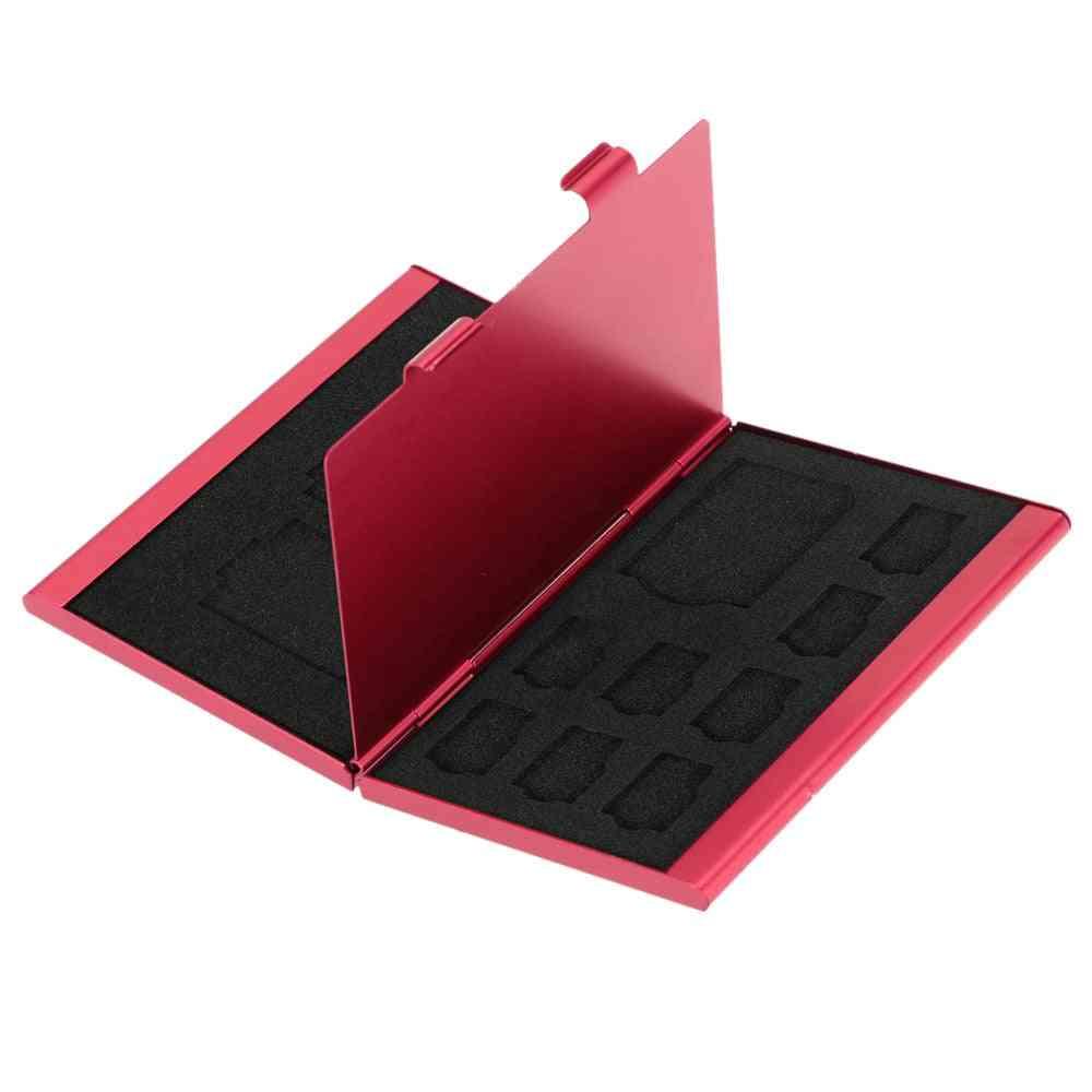 12 In 1 Aluminum Storage Box Memory Card Case Holder Wallet