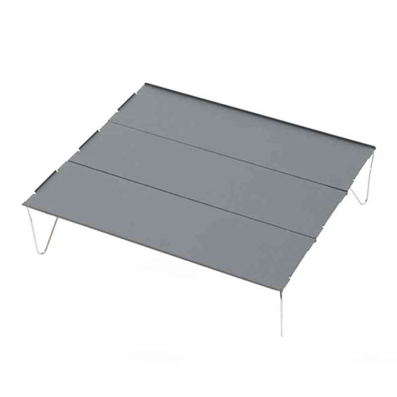Camping Tables Picnic Lightweight Camping Furniture Portable Outdoor Hiking Desk Aluminum Plate Folding Table Barbecue