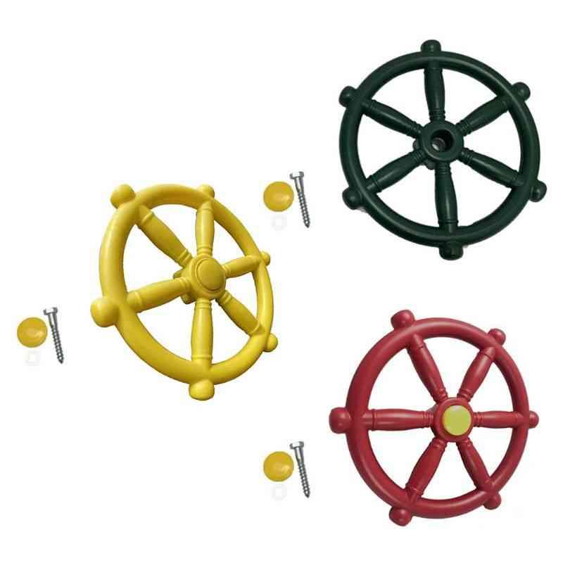 Children Toy Boat Steering Wheel Kindergarten Playground Swing Accessories.