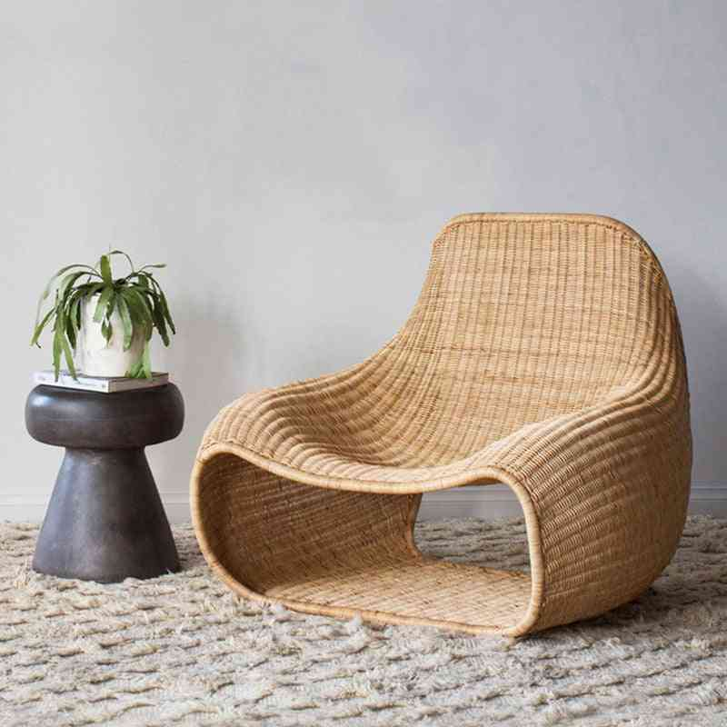 Creative Outdoor Indoor Rattan Chair Furniture Nordic Simple Southeast Asia Rattan Sofa Hotel Model Room Leisure Chair
