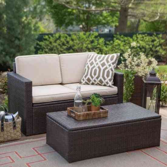 All Weather Patio Furniture Cube Table Rattan Small Couches
