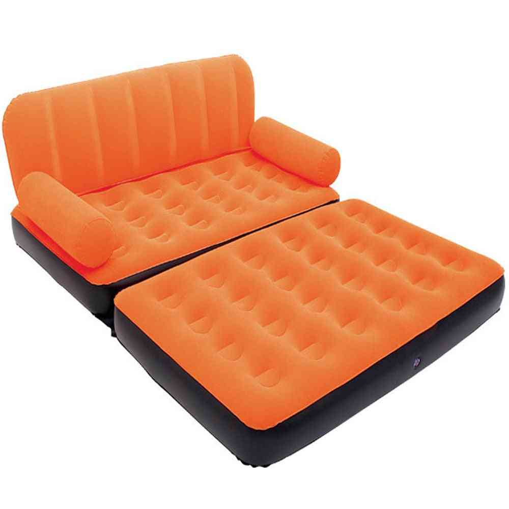 5 In 1 Outdoor Home Garden Inflatable Double Sofa Bed Comfortable Camping Air Sofa Bed