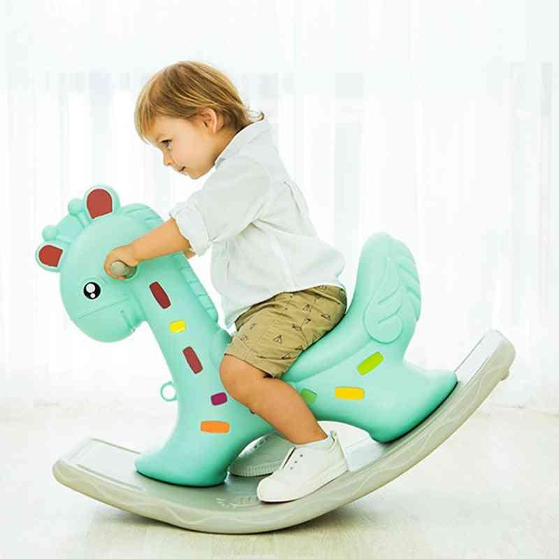 Children Giraffe Rocking Horses, Thickening Plastic Baby Indoor Balance Chair, Kindergarten Ride For Kid, Toy Birthday