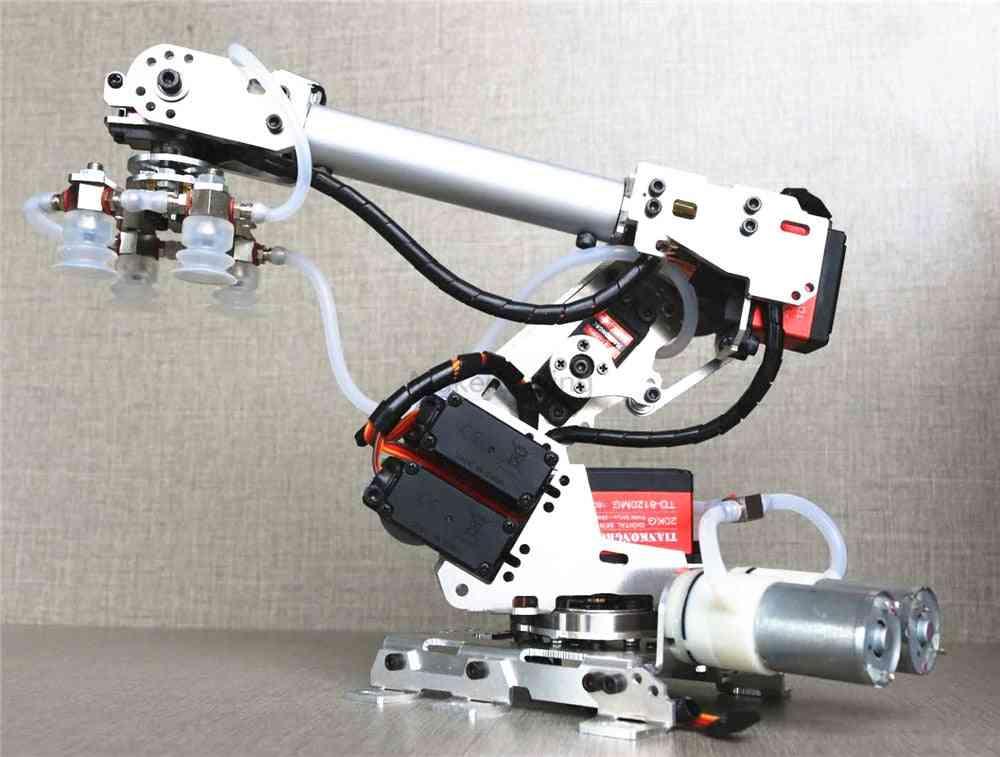 Mechanical Arm Air Pump, Aluminum Alloy Industrial Robot, Model Six Axis, Suction Cup