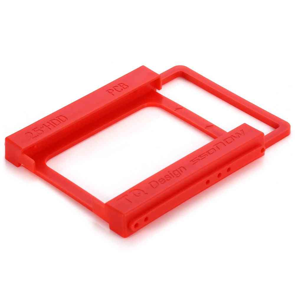 Plastic 2.5 Inch To 3.5 Inch Ssd Hdd Mounting Bracket Adapter